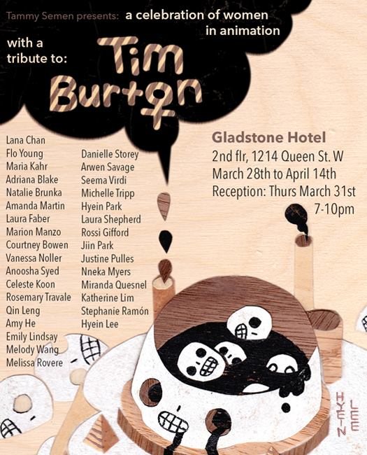 Tribute to Tim Burton Art Show at the Galdstone